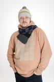 Man med scarfen Arkivfoto
