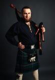Skotsk pipblåsare Fotografering för Bildbyråer
