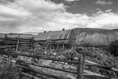 The Barn. A black and white of an old barn Royalty Free Stock Image