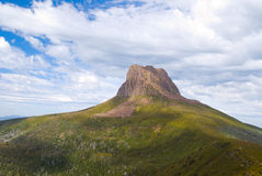 Barn Bluff. An iconic peak on the famous Overland Track in Tasmania, Australia Stock Image