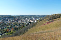 Barn Bluff and Red Wing Aerial Royalty Free Stock Photography