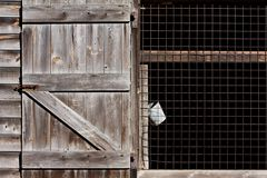 Barn and Bucket Royalty Free Stock Images