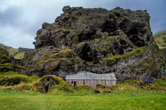 Barn built into a rock Royalty Free Stock Photography