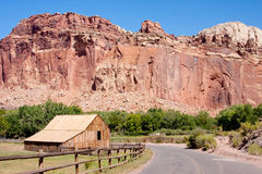 Barn at Capitol Reef National Park Royalty Free Stock Image