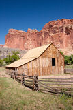 Barn at Capitol Reef National Park stock image