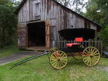 Barn and Carriage Royalty Free Stock Images