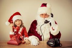 barn claus santa Fotografering för Bildbyråer