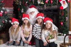 barn claus santa Arkivbilder