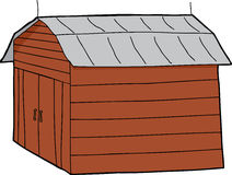 Barn with Closed Doors vector illustration