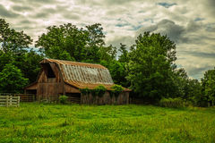 Barn with Clouds. Barn in the War Eagle Creek area with Clouds Royalty Free Stock Image