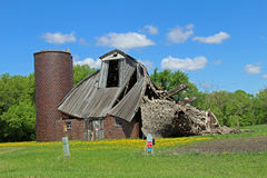 A Barn Collapsed Royalty Free Stock Photography