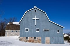 Barn Converted Into A Church Stock Photography