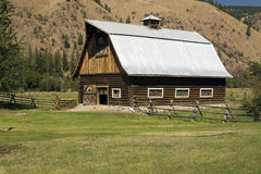 Barn in countryside. Exterior view of barn building in countryside, Florence, Montana, U.S.A stock images