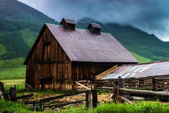 A Barn In Crested Butte Colorado Stock Photography