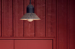 Barn Door Lamp Royalty Free Stock Image