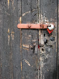 Barn door and padlock Royalty Free Stock Photo