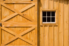 Barn door and windows Stock Photos