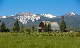 Steamboat Colorado mountian vistas and barn stock photography