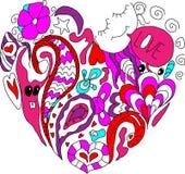 Barn drömmer hjärta Arkivfoton