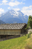 Barn for drying grass, Brandberg, Austria Stock Photography