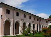 Barn of an elegant building in Portobuffolè in the province of Treviso in the Veneto (Italy) Royalty Free Stock Photos