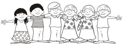 Barn-färgläggning bok royaltyfri illustrationer