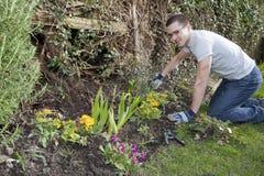 barn för 1 arbeta i trädgården man Royaltyfria Foton