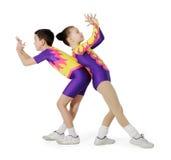 barn för aerobicsidrottsman nenanförande Arkivbilder