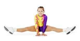 barn för aerobicsidrottsman nenanförande Royaltyfri Fotografi