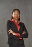 barn för afrikansk amerikanaffärskvinna Royaltyfria Bilder