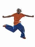Barn för akrobatisk dansare för avbrott för höftflygtur breakdancing Arkivfoton