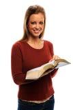 barn för bibelholdingkvinna Royaltyfria Foton