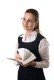 barn för bokkvinnligavläsning Royaltyfri Fotografi