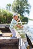 barn för fartygmanrodd Royaltyfria Foton