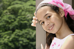 barn för flickamixparentage Arkivbild