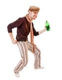 barn för grön man för flaska arkivbilder