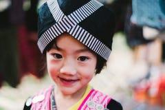 Barn för Hmong kullstam Arkivbild