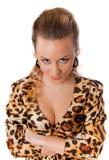 barn för klänningkvinnligleopard Royaltyfri Fotografi