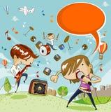 barn för konsertfestivalmusik Arkivfoton