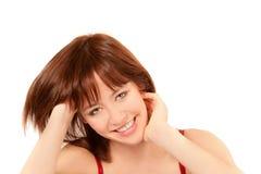 barn för kvinna för closeupstående nätt sinnligt Fotografering för Bildbyråer
