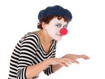 barn för kvinna för clownframsida slitage Royaltyfri Bild
