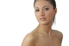 barn för kvinna för hud för framsidahälsostående royaltyfria foton