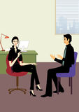 barn för kvinna för samtal för kontor för affärsman Fotografering för Bildbyråer