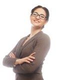 barn för kvinna för stående för bakgrundsbyggnadsaffär modernt arkivfoton