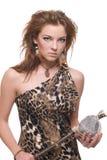 barn för kvinna för sten för closeuphammarevilde arkivfoton