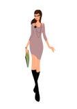 barn för kvinna för tröja för affärsladykontor Royaltyfri Fotografi