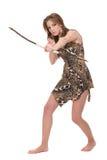 barn för kvinna för vilde för bowcloseupstående royaltyfri foto
