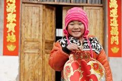 Barn för nytt år i Kina Royaltyfri Bild