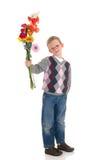 barn för pojkeförälskelsevalentin Arkivbilder