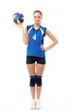 barn för skönhetspelarevolleyboll royaltyfri foto